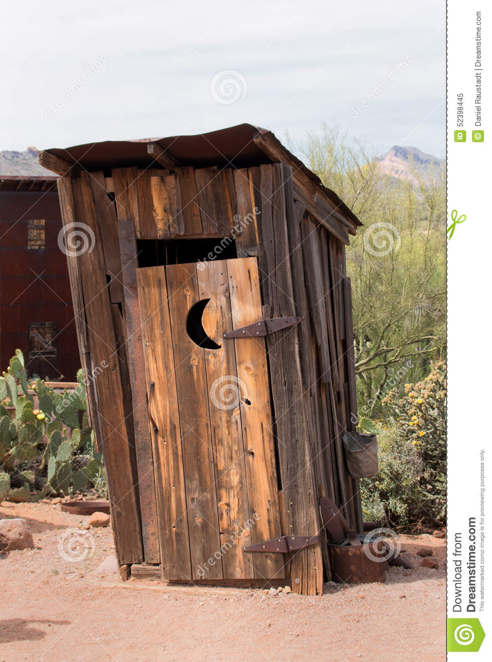 Old Wild West Outhouse Bathroom Stock Photo Image - Outhouse bathroom
