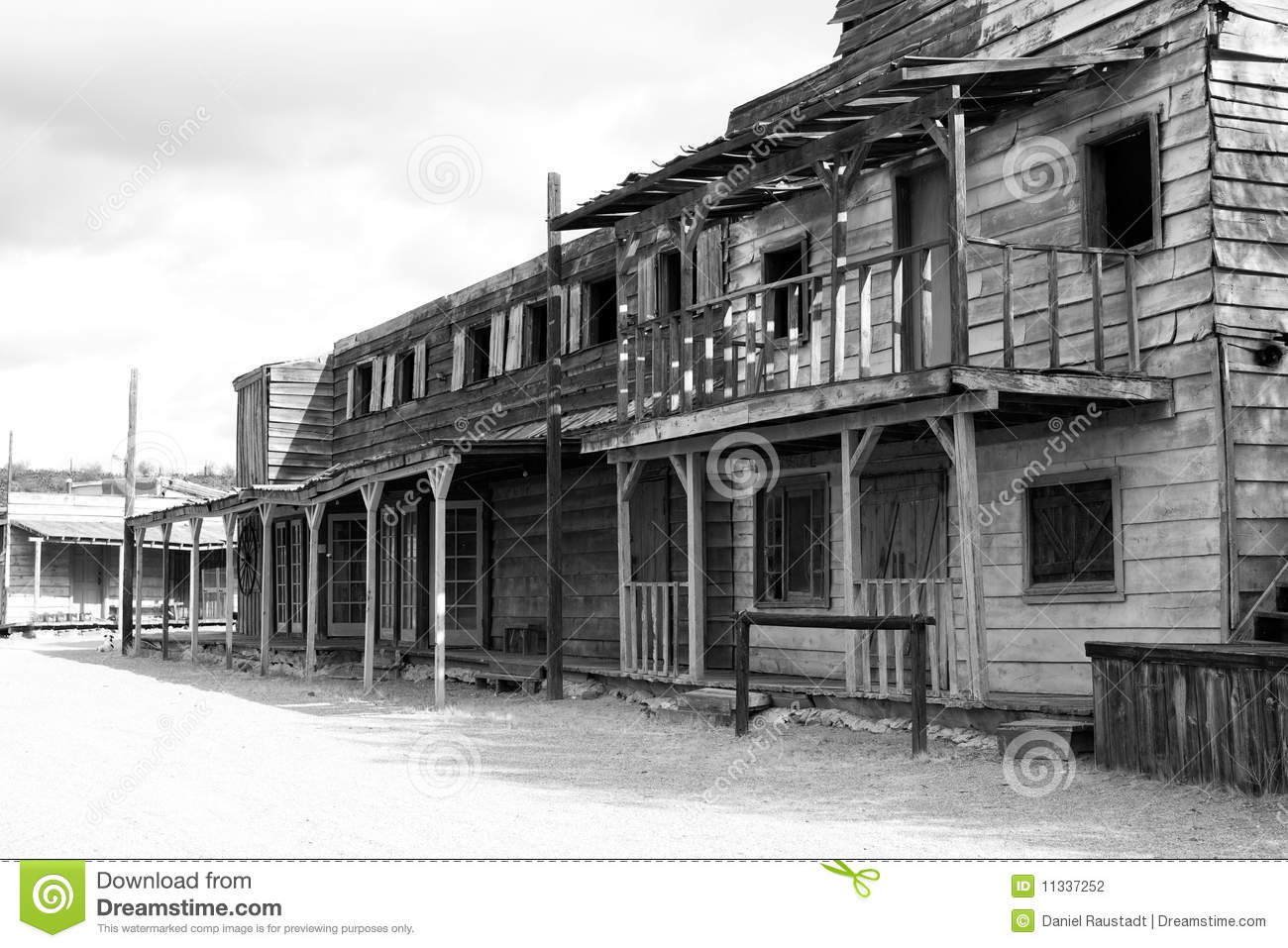 Old Wild West Town And Saloon Usa Stock Photo Image