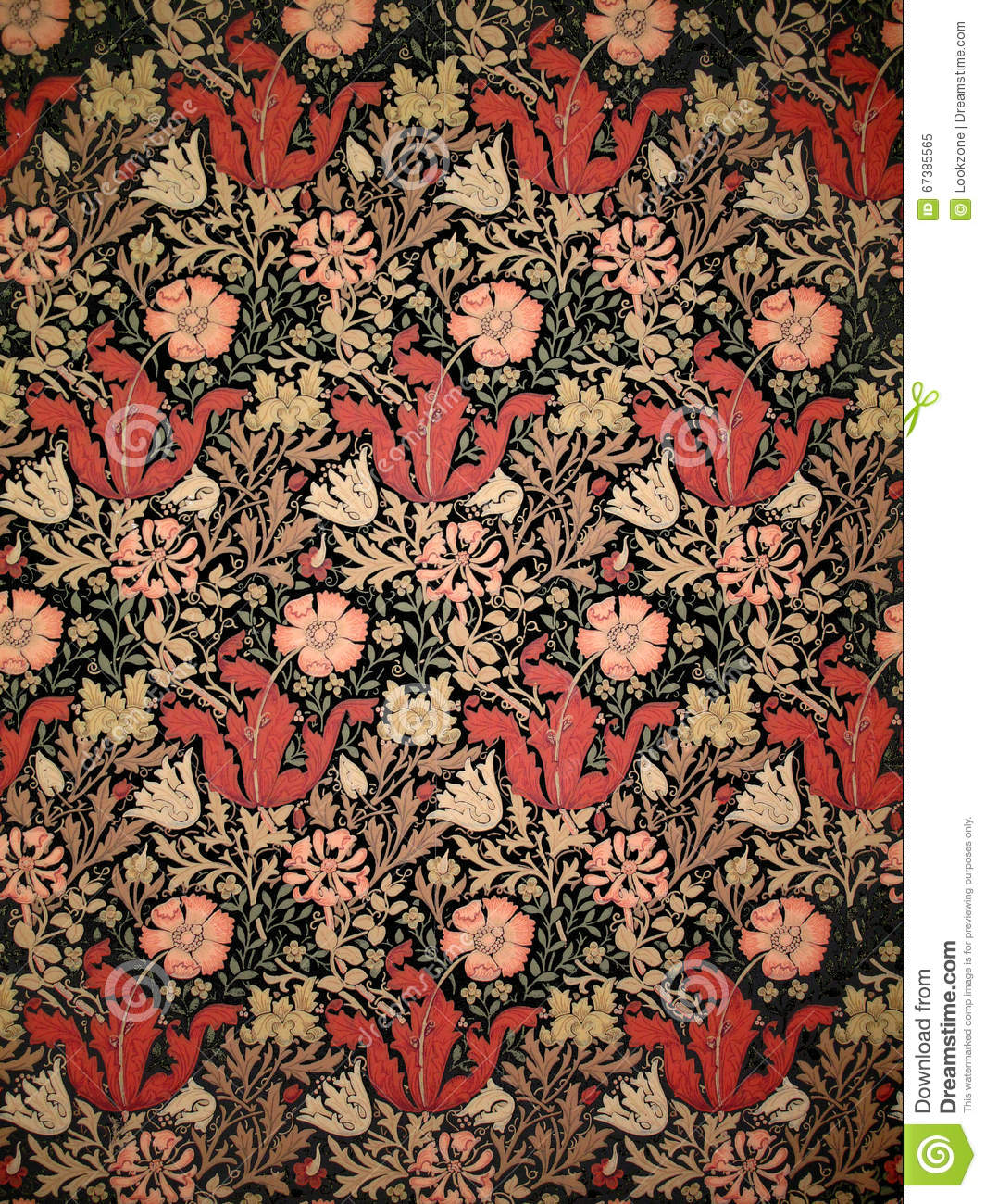 Old William Morris Wallpaper Stock Image Image Of Aged