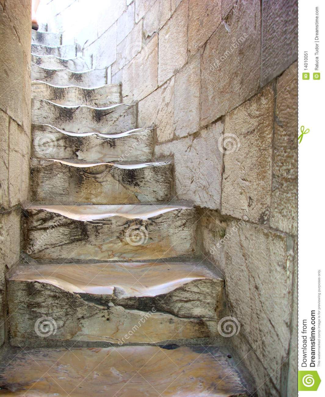 Old winding stairs in Pisa, Italy