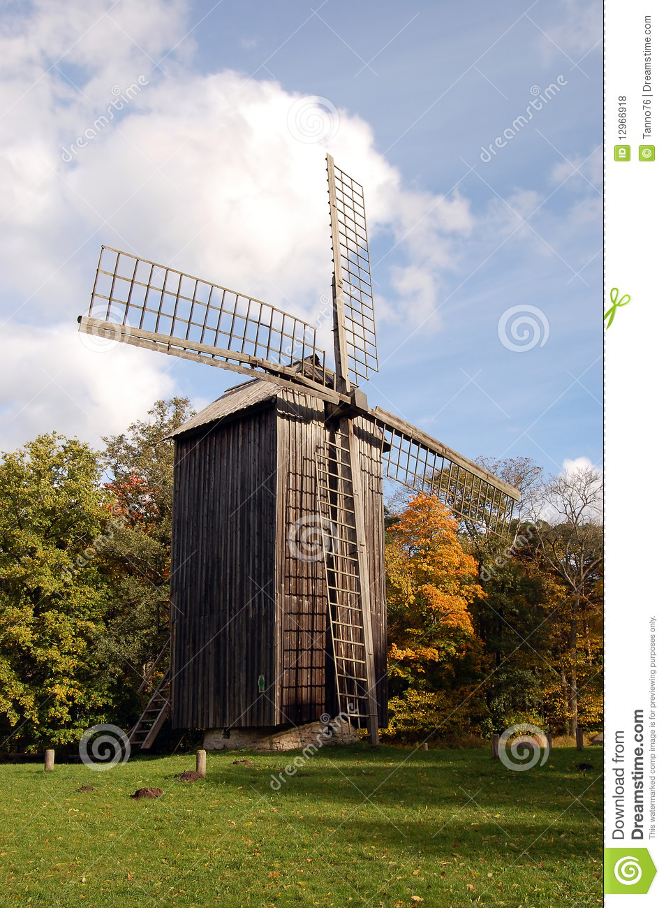 Old Windmill Royalty Free Stock Photos - Image: 12966918