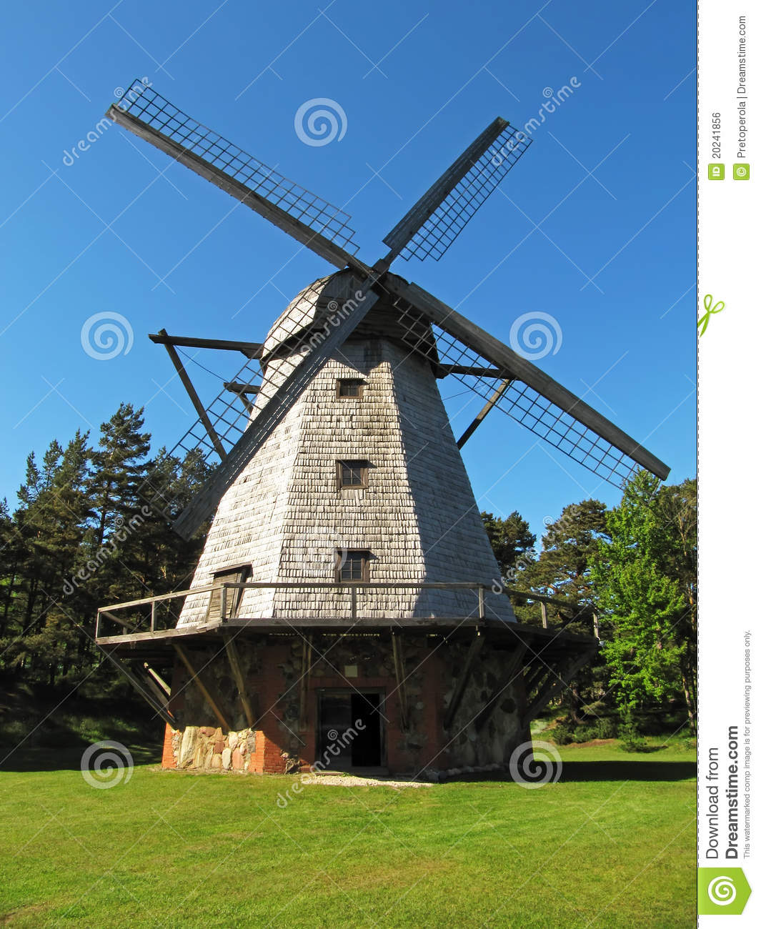 Old Windmill Royalty Free Stock Image - Image: 20241856