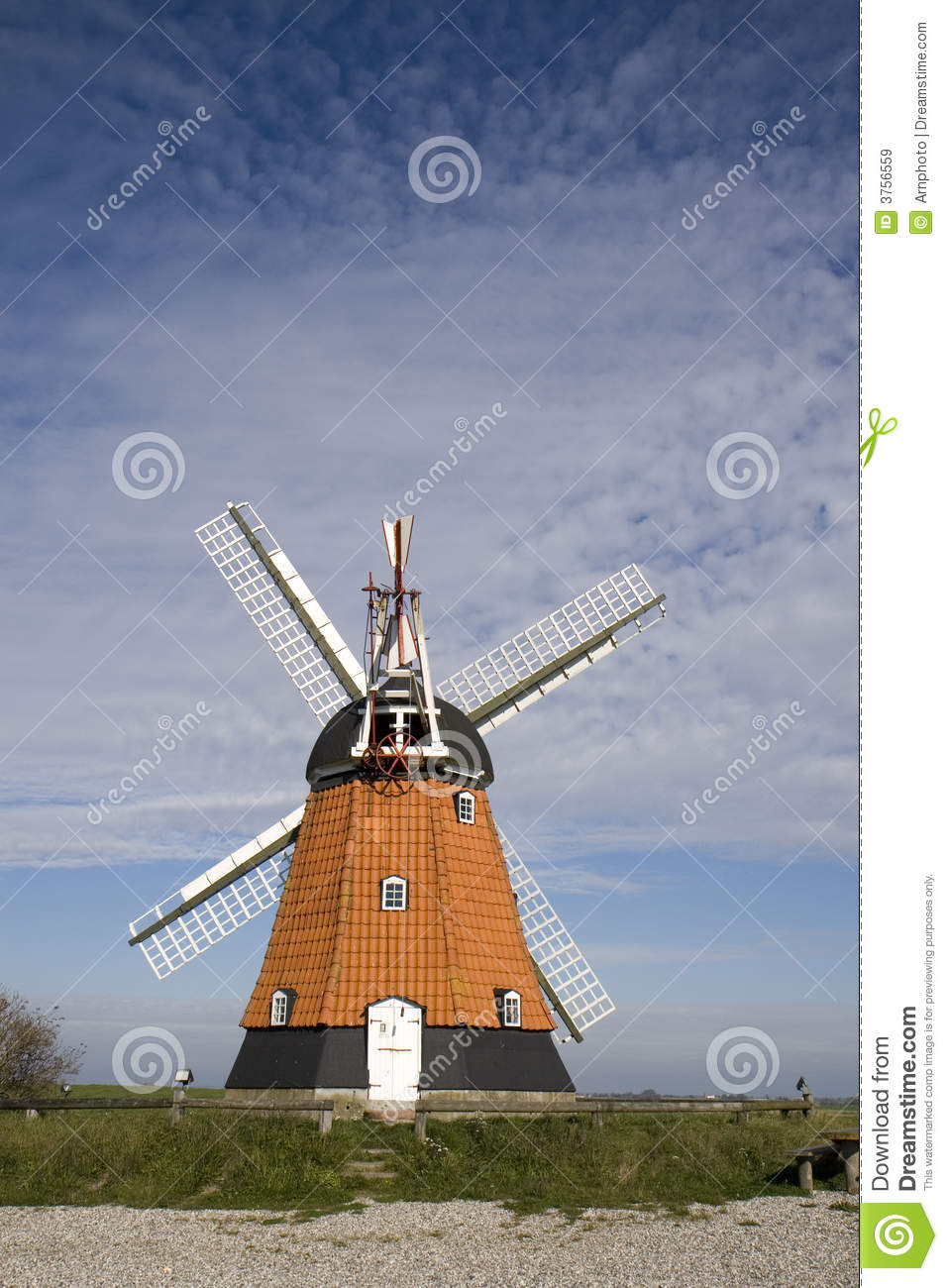 Old Windmill Royalty Free Stock Images - Image: 3756559