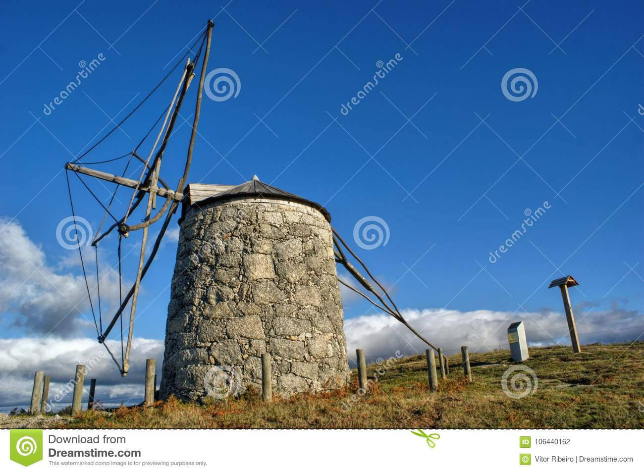 Old windmill of Aboim in Fafe