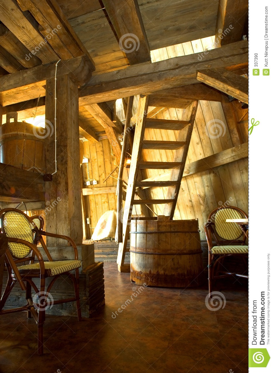 The Interiors Of This Modern Mexican House Open To: Old Windmill Interior Stock Photo. Image Of Stairs