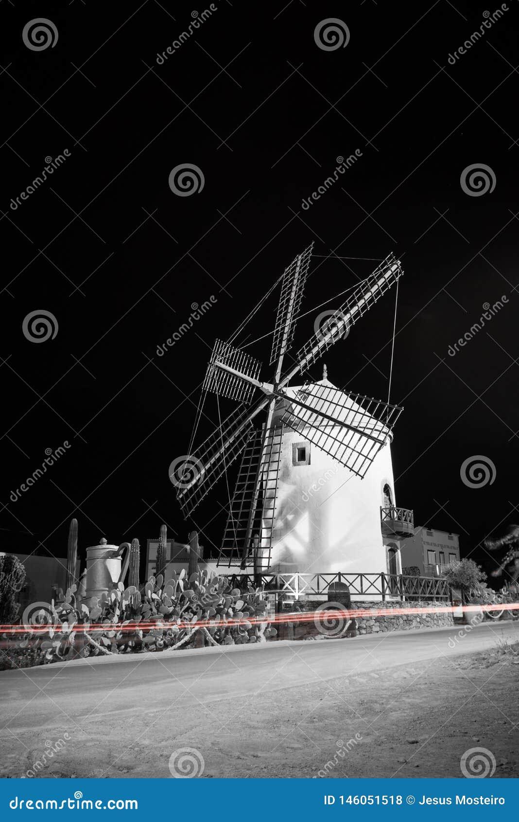 Old Windmill, village of Mogan, Gran Canaria, Spain