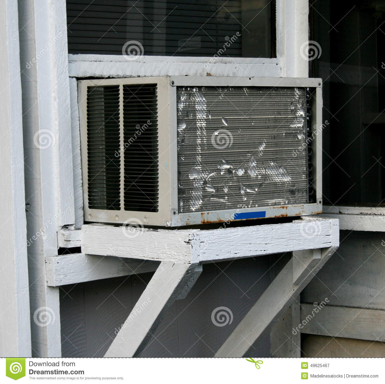 Old Window Air Conditioner Stock Image Image Of Rickety