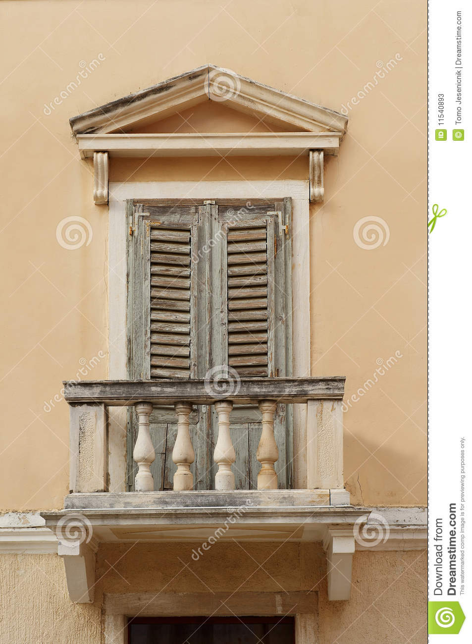 Old window balcony stock photos image 11540893 for Balcony window