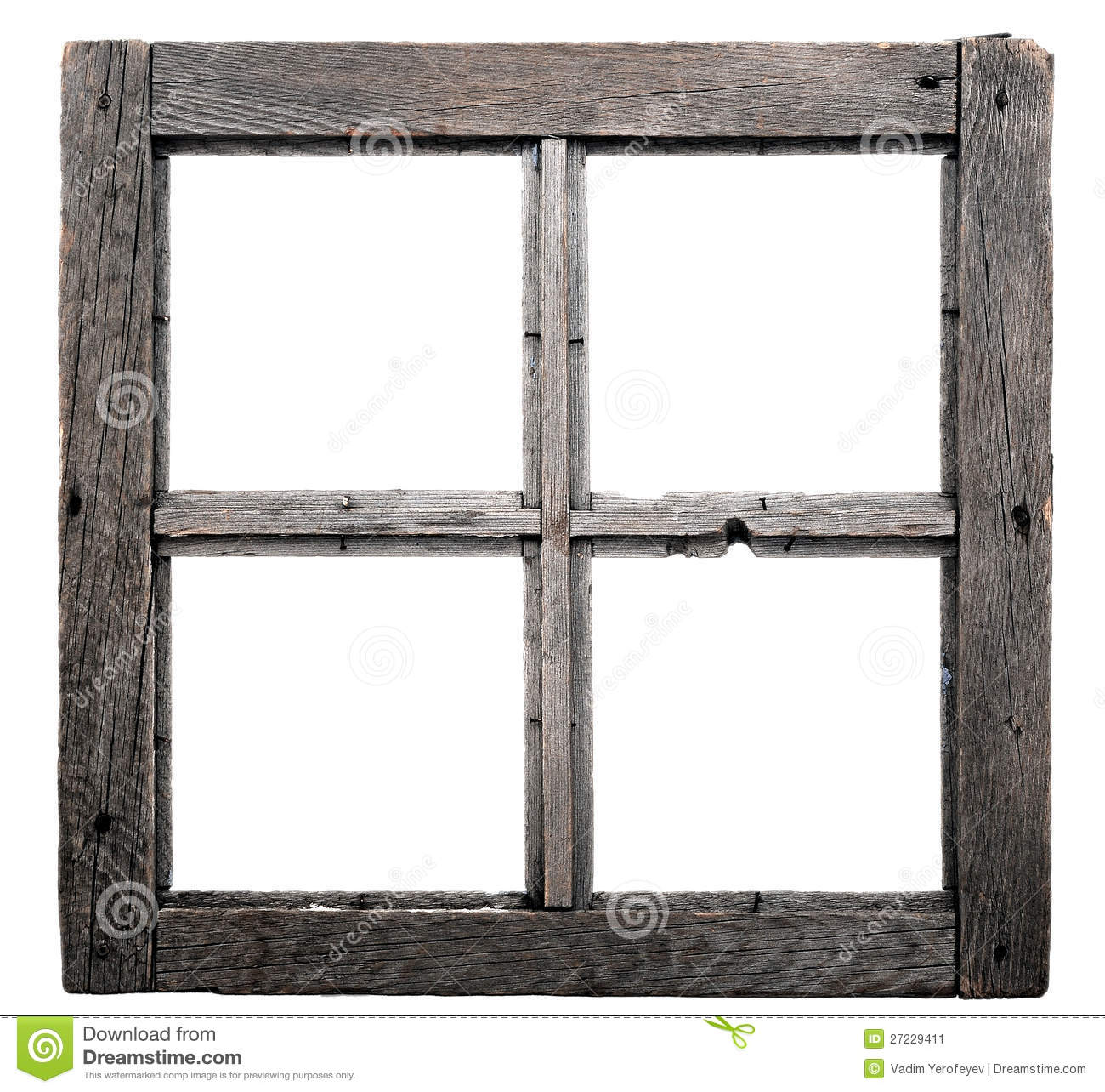 Old window frame stock image. Image of wooden, house - 27229411