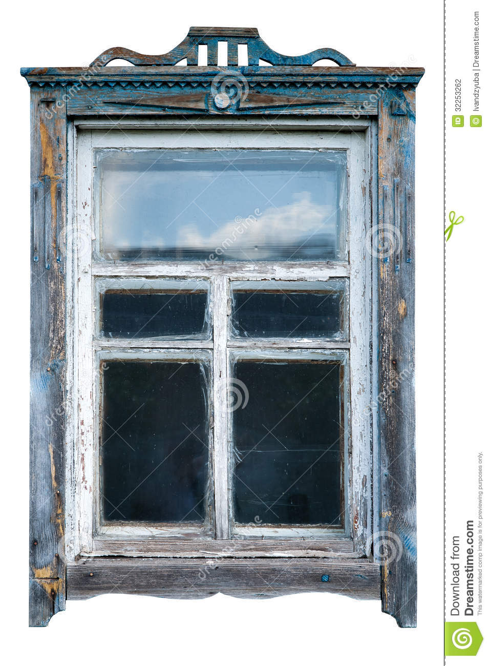Old Window Frame Stock Photography - Image: 32253262