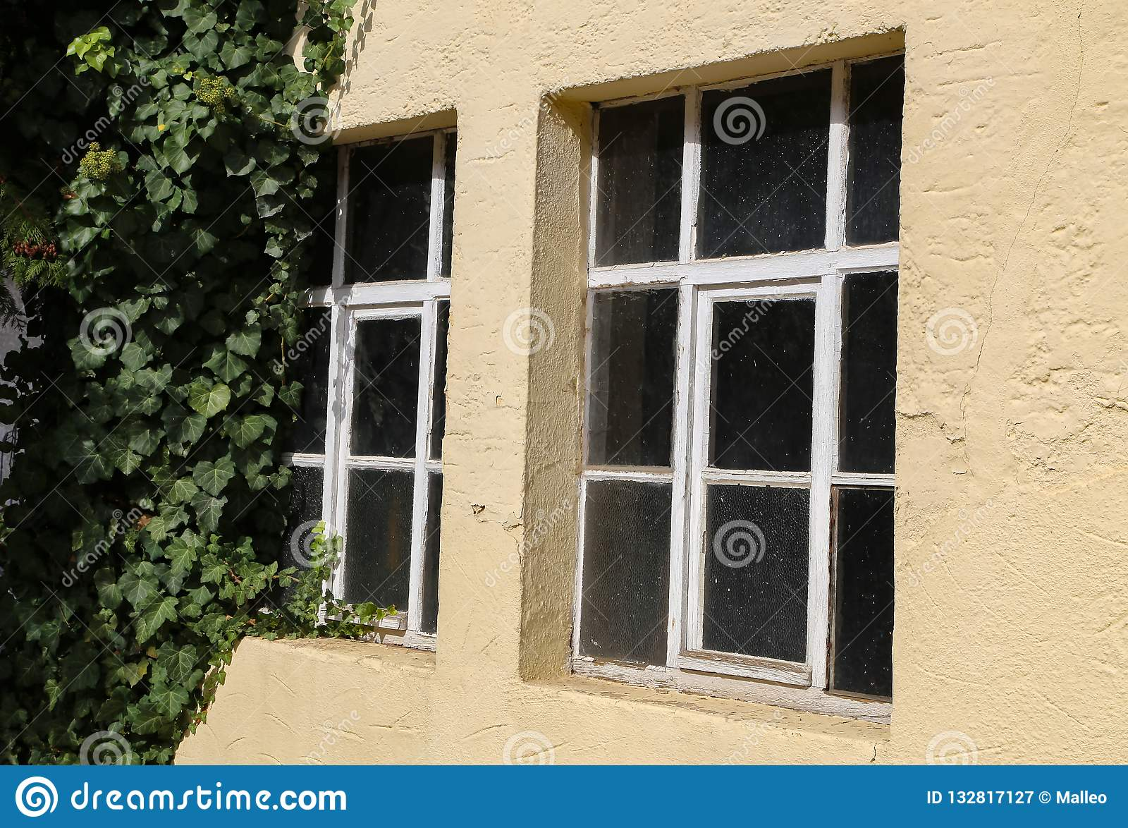 Old Window Frames In The Old House Stock Image Image Of