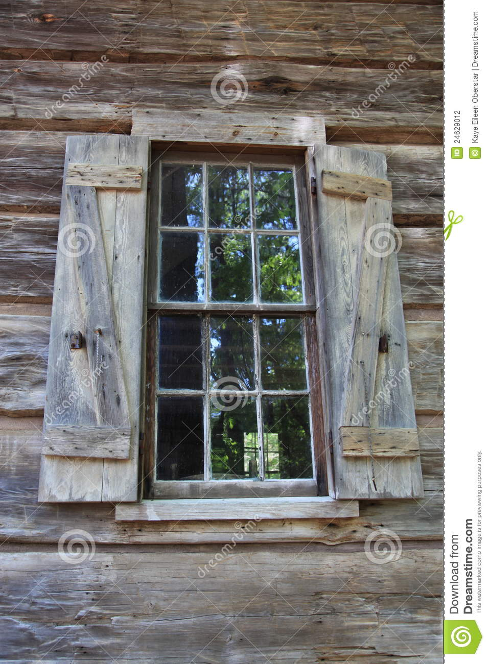 Old Window And Shutters At Callaway Gardens Stock Photo