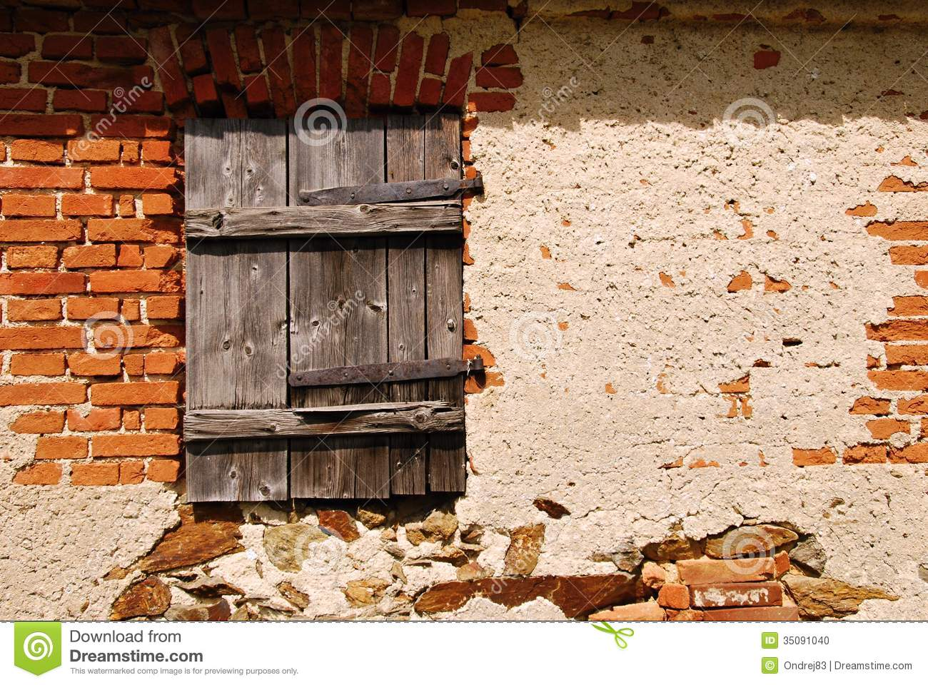 Old Window Shutters Stock Photo Image Of Brick Antique