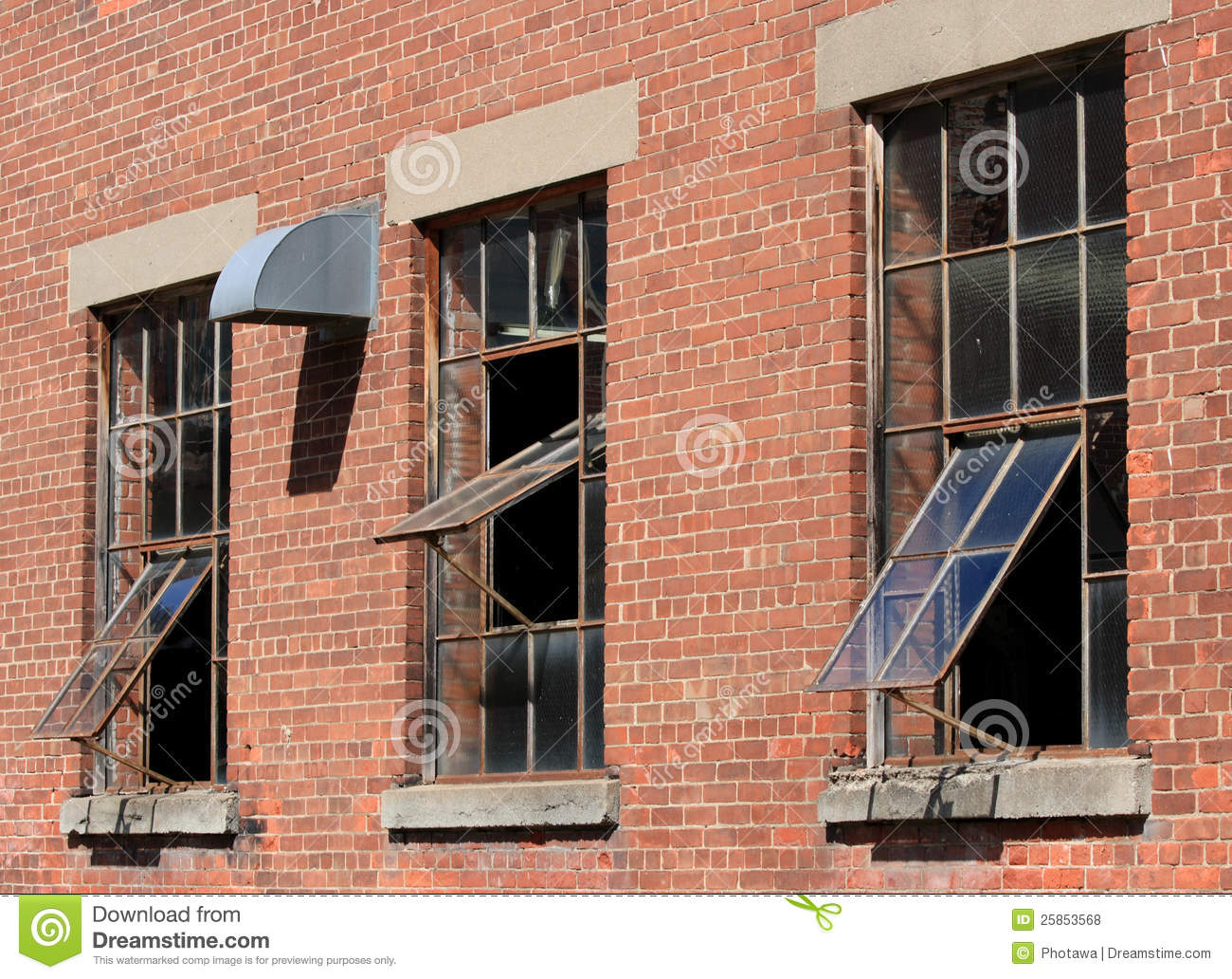 Old Windows Old Windows In Brick Wall Royalty Free Stock Photos Image 25853568