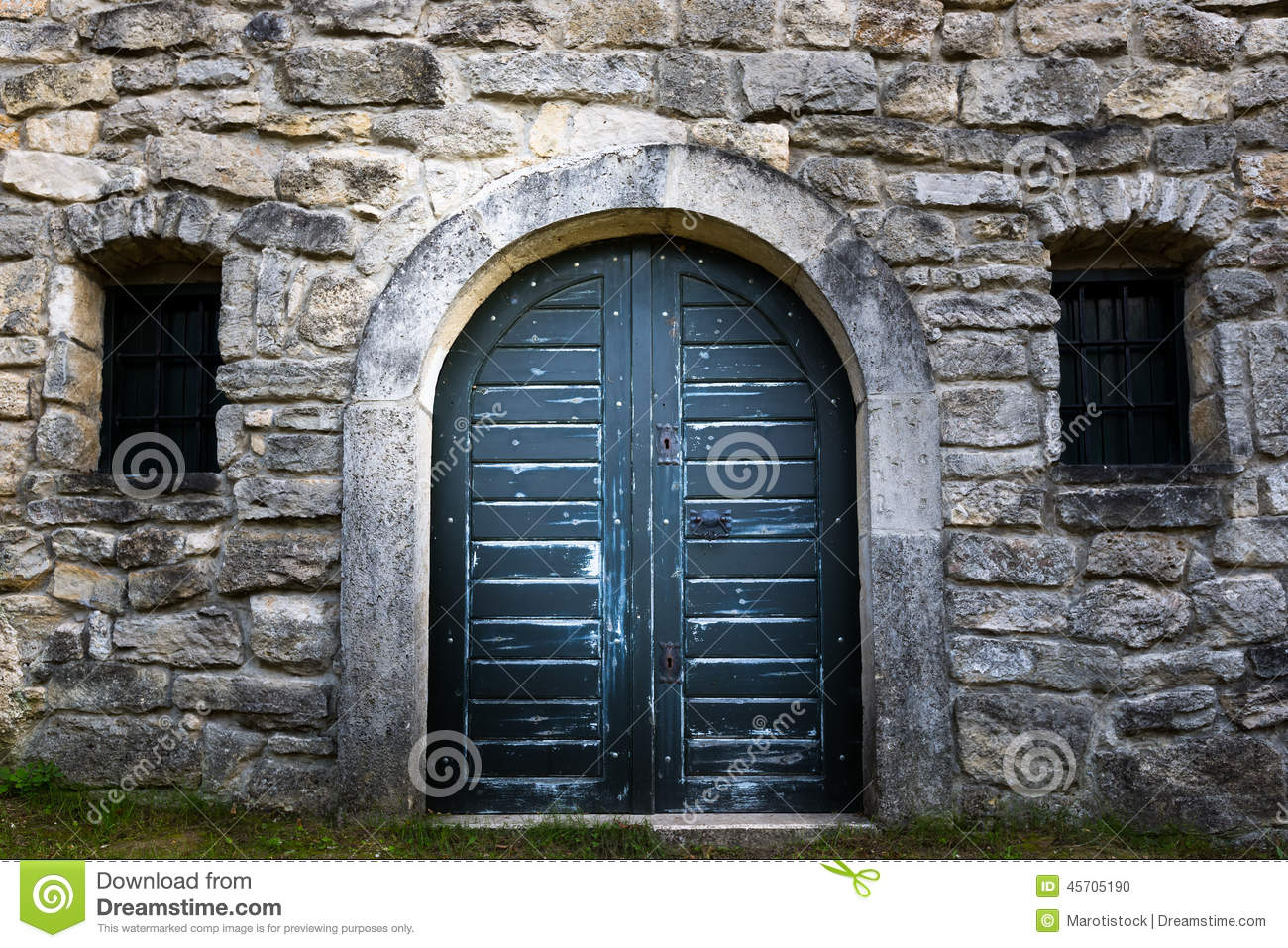 Old wine cellar door. Blue rock. & Old wine cellar door stock photo. Image of wine blue - 45705190