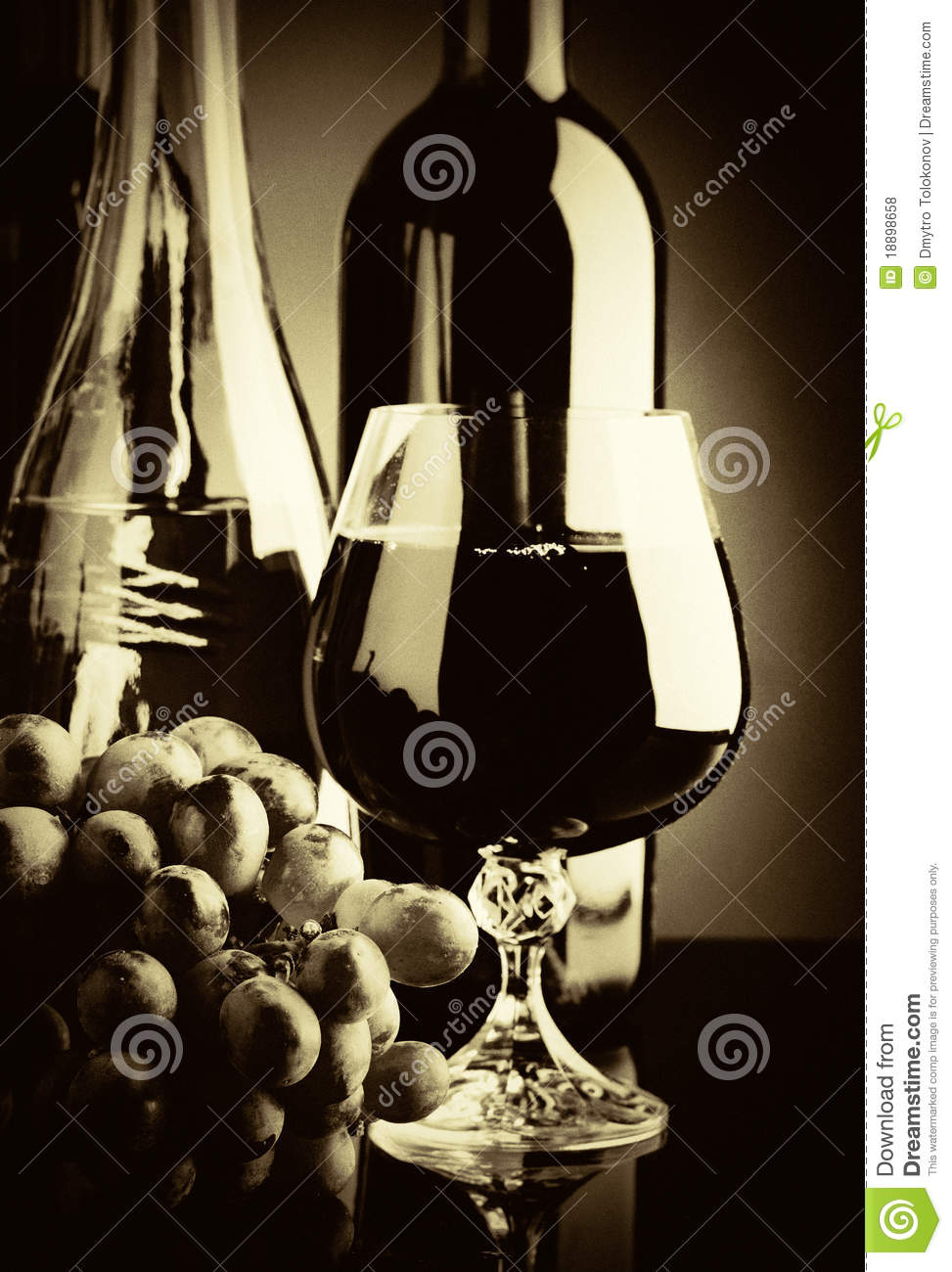 Old wine. Retro still life