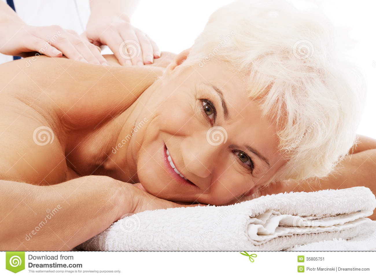 Old woman massage