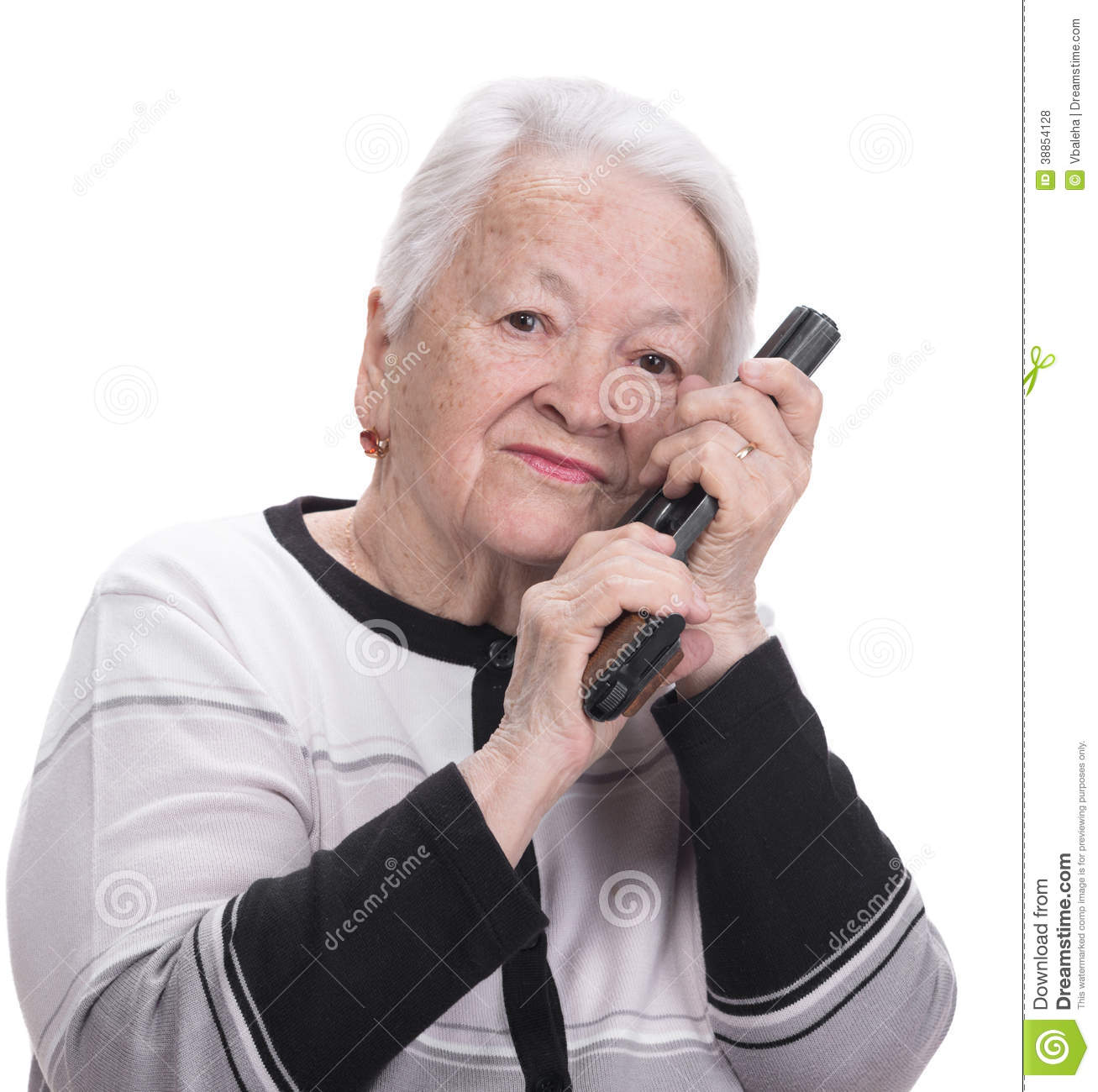 old woman with pistol stock photo image 38854128 free clip art of apple watch free clipart of apple pie