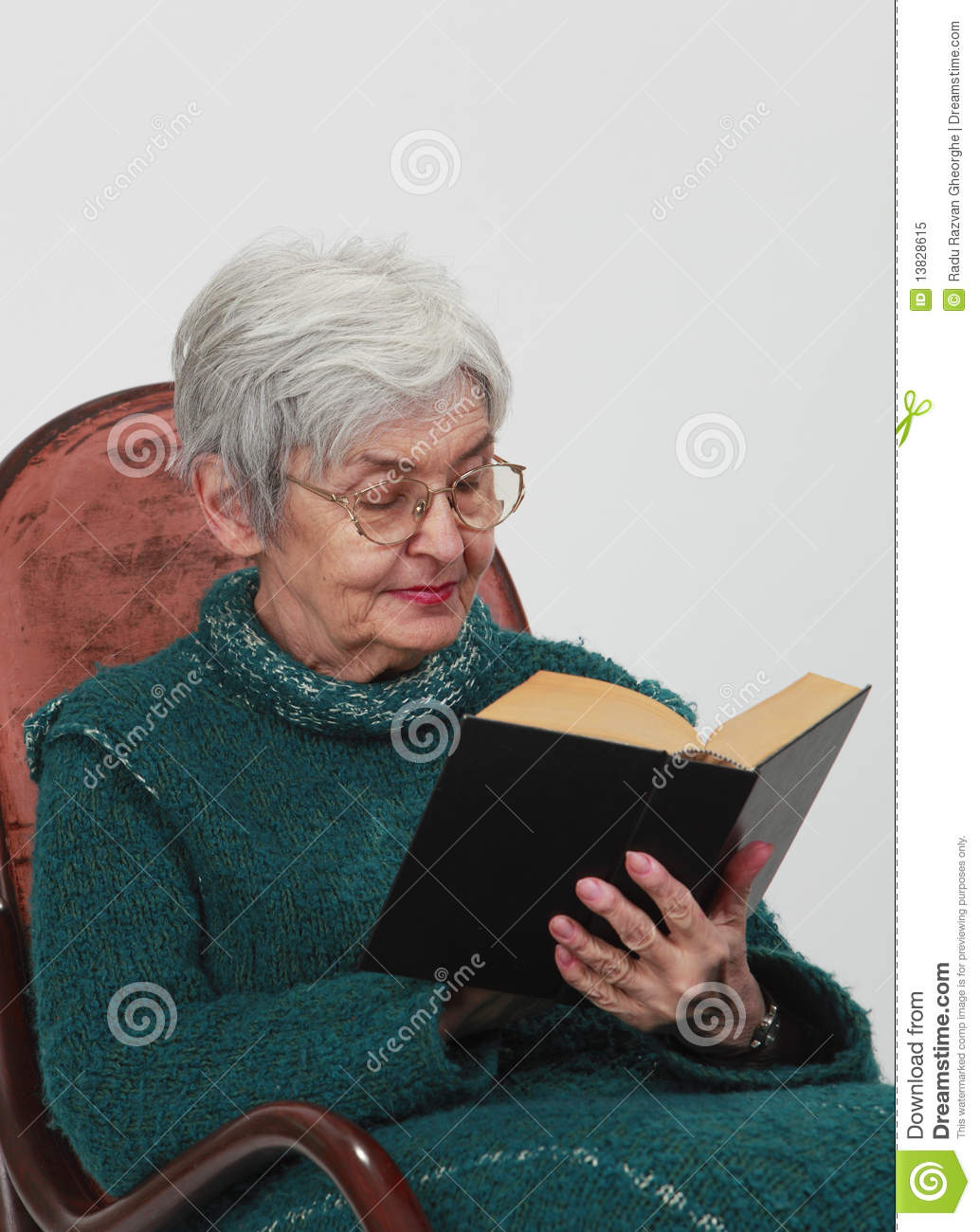 Old Woman Reading Royalty Free Stock Photo Image 13828615