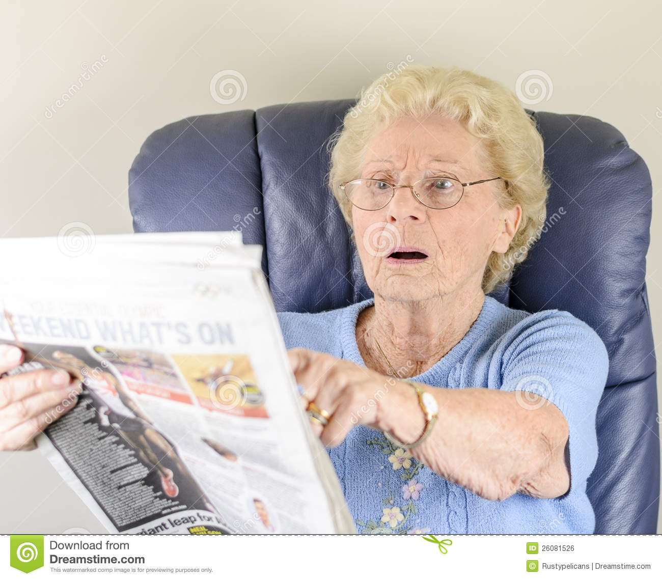 Old Woman Reading Newspaper Royalty Free Stock Image ...