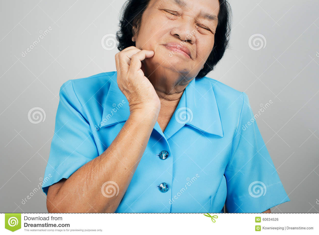 old woman scraching her labia stock photo - image of care, healthy