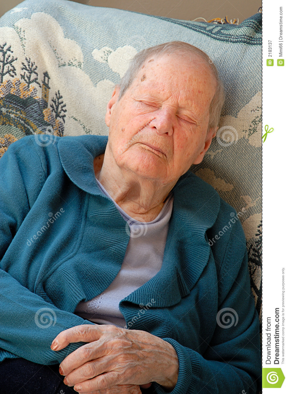 Old Woman Sleeping Royalty Free Stock Photography Image