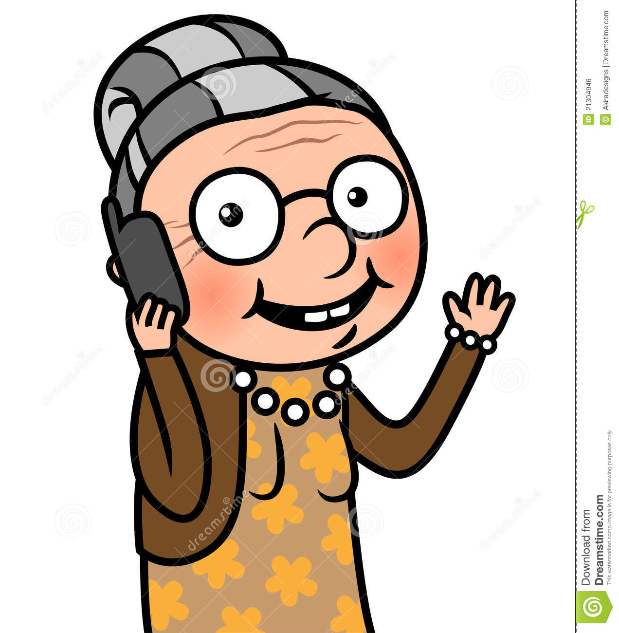 old woman talking on a cell phone stock vector illustration of rh dreamstime com Cell Phone Border Clip Art Cell Phone Border Clip Art