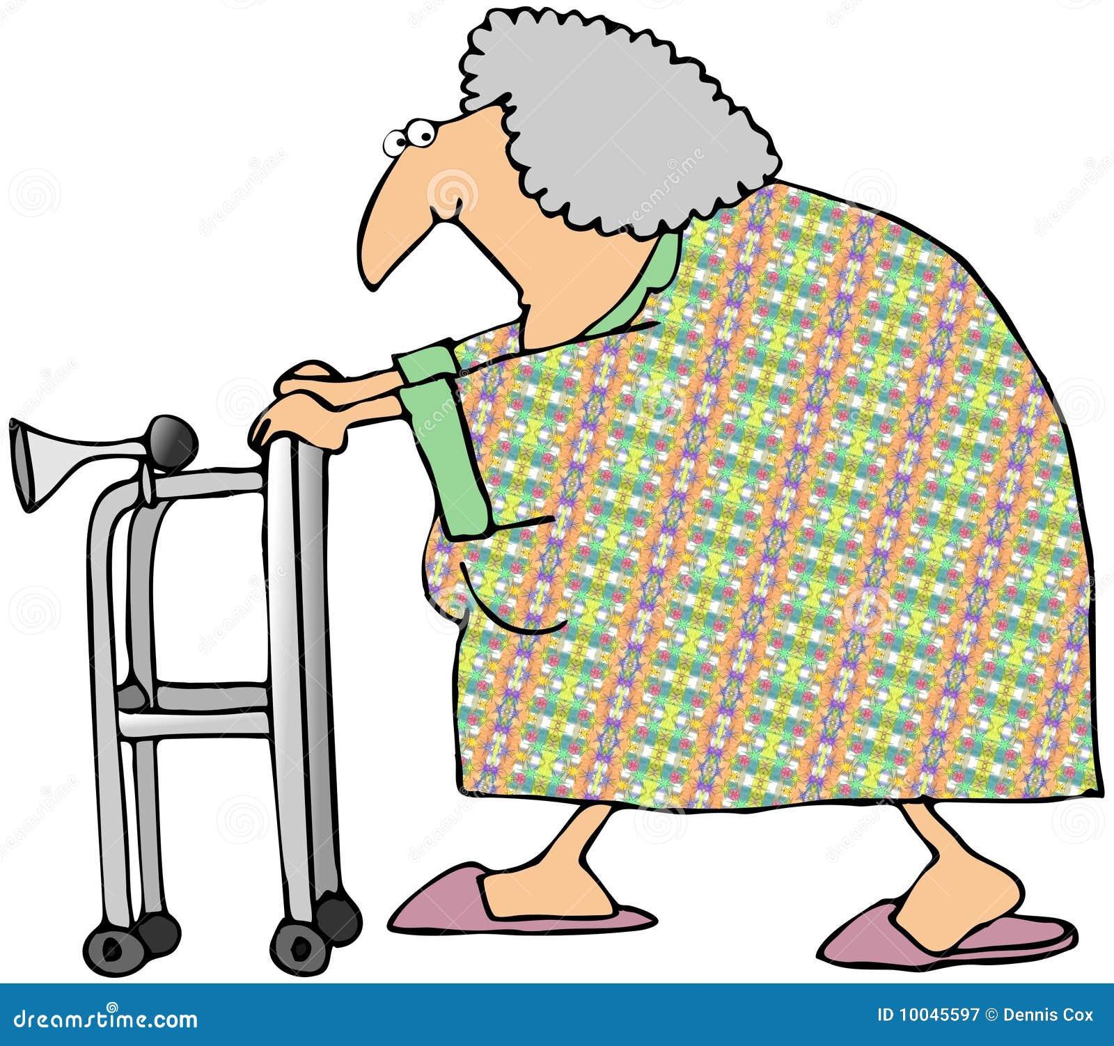 Cartoon Old Woman Walker Stock Illustrations 146 Cartoon