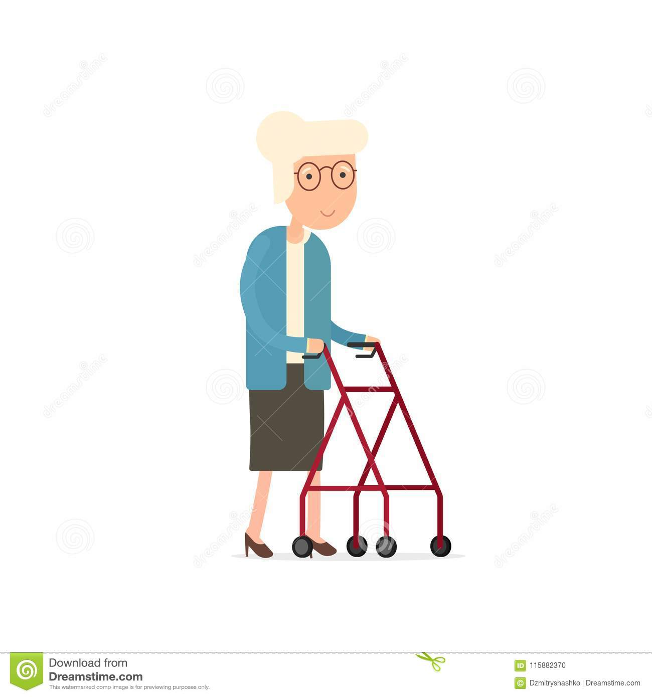Rollator Cartoons Illustrations Amp Vector Stock Images