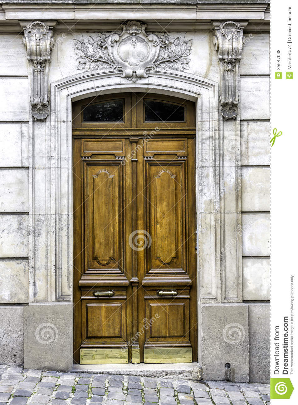 Old Wood Arch Entry Door Royalty Free Stock Photos Image
