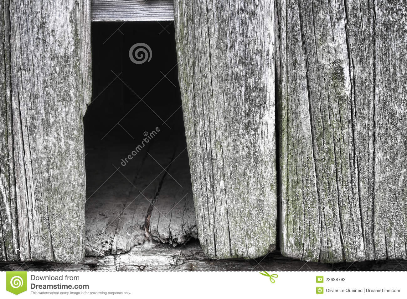Old Wood Barn Wall With Missing Barnwood Board Stock Photos - Image ...