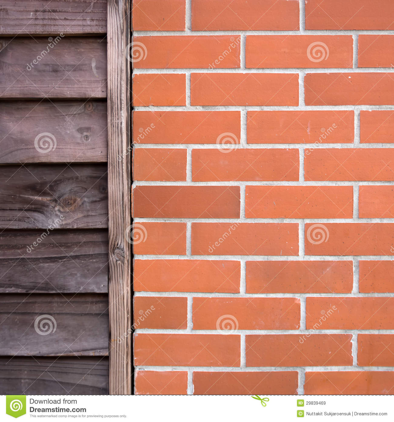 Old Wood And Brick Wall Royalty Free Stock Images Image