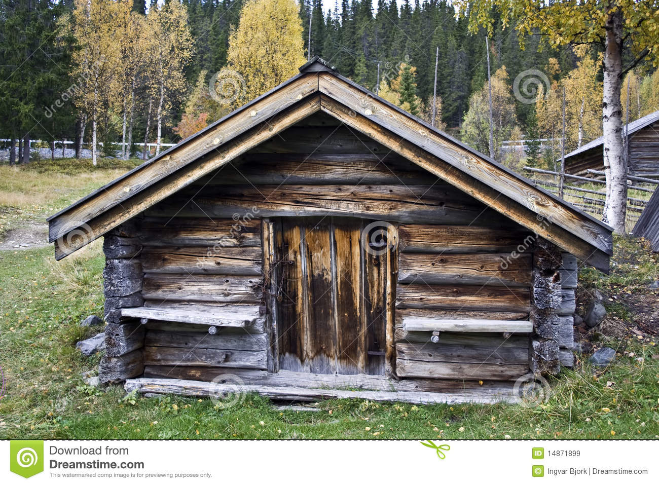 Old Wood Cabin Stock Image Image Of Historic Mountains
