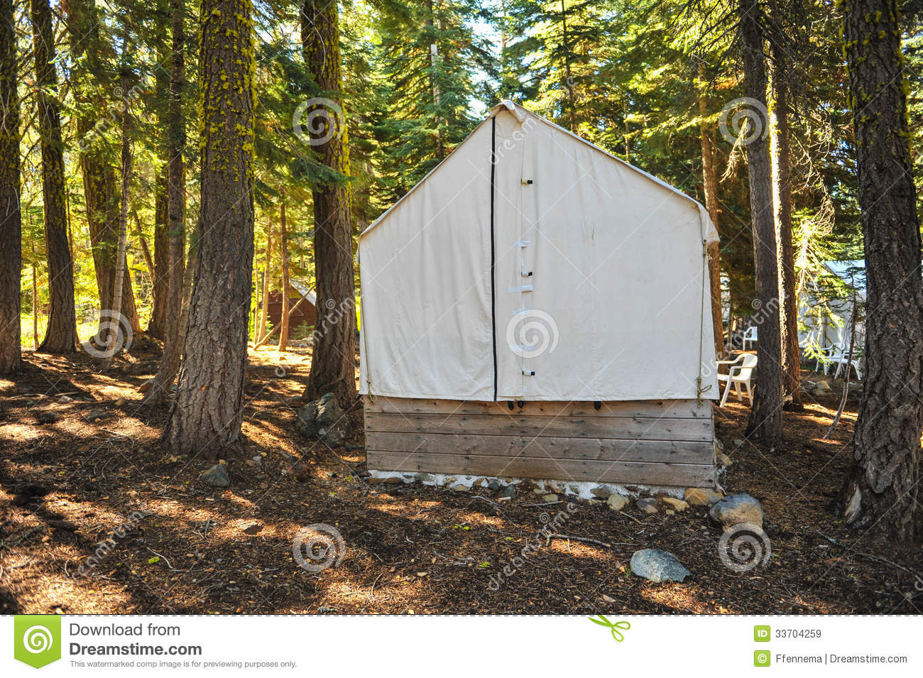 Old Wood Cabin Covered With Canvas Top Royalty Free Stock