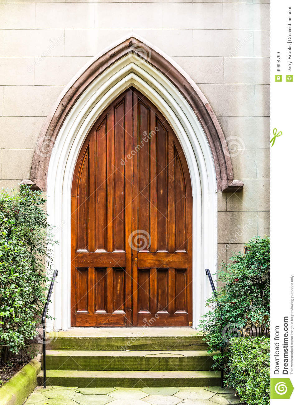 Old Wood Church Door Stock Photo Image 49694799