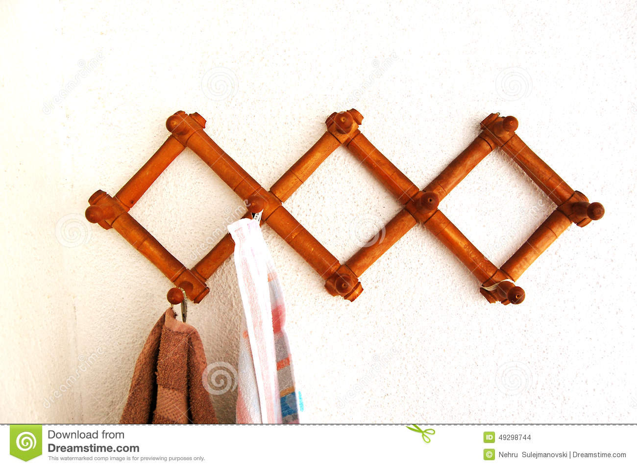 old wooden clothes hanger