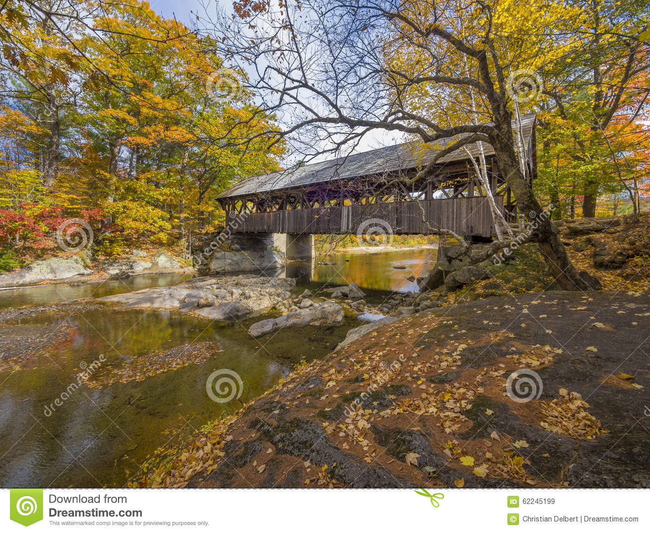 Old wood covered bridge