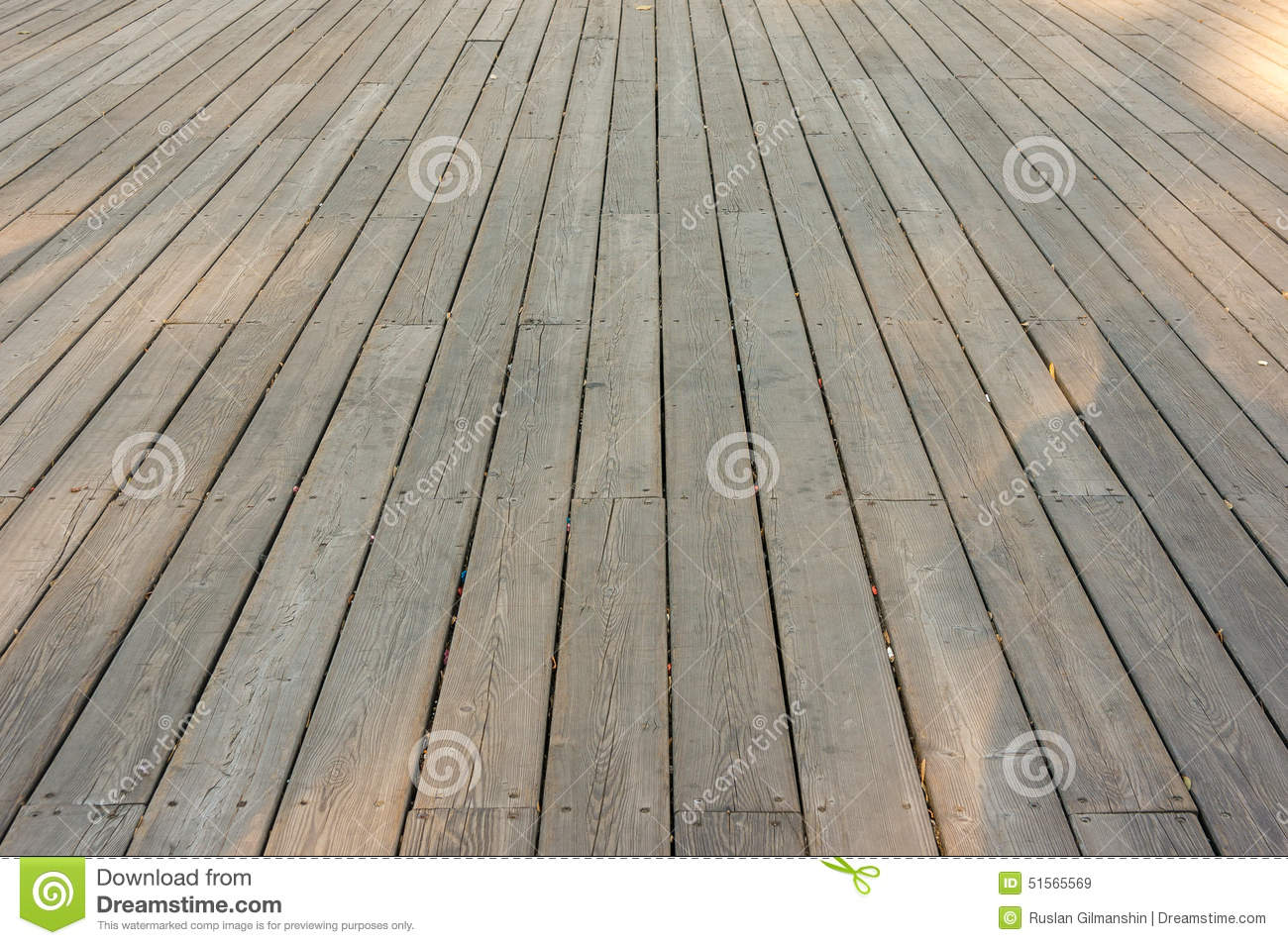 Old wood deck