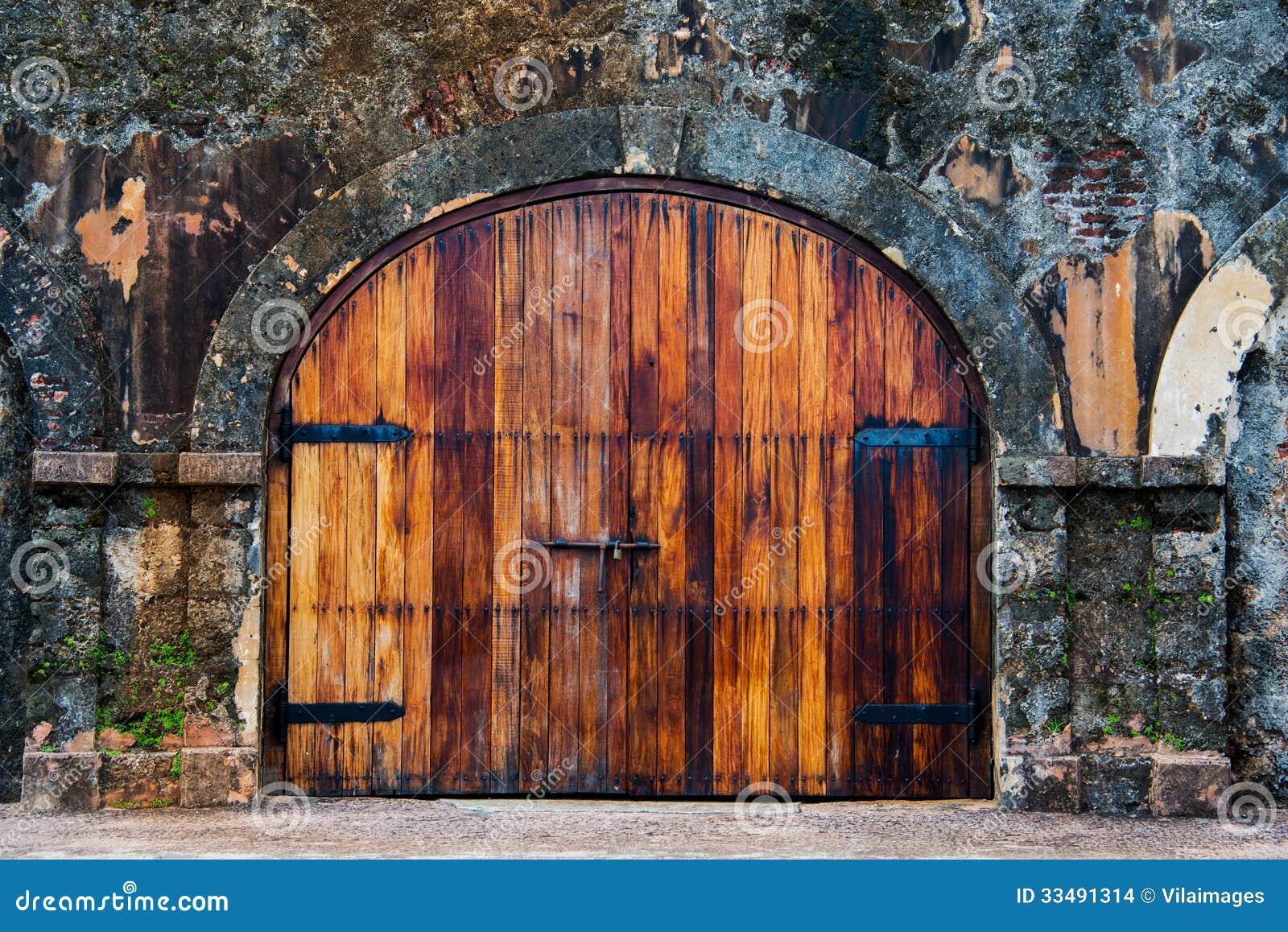 Old Wood Door Stock Images Image 33491314