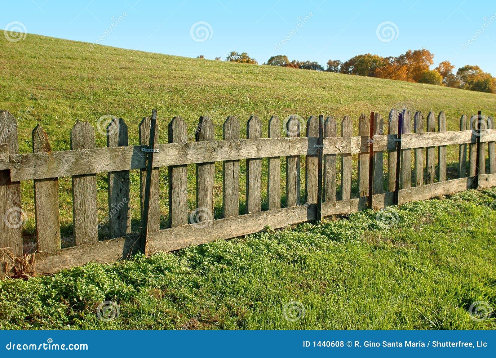 Old wood fence stock photo image of joyful property