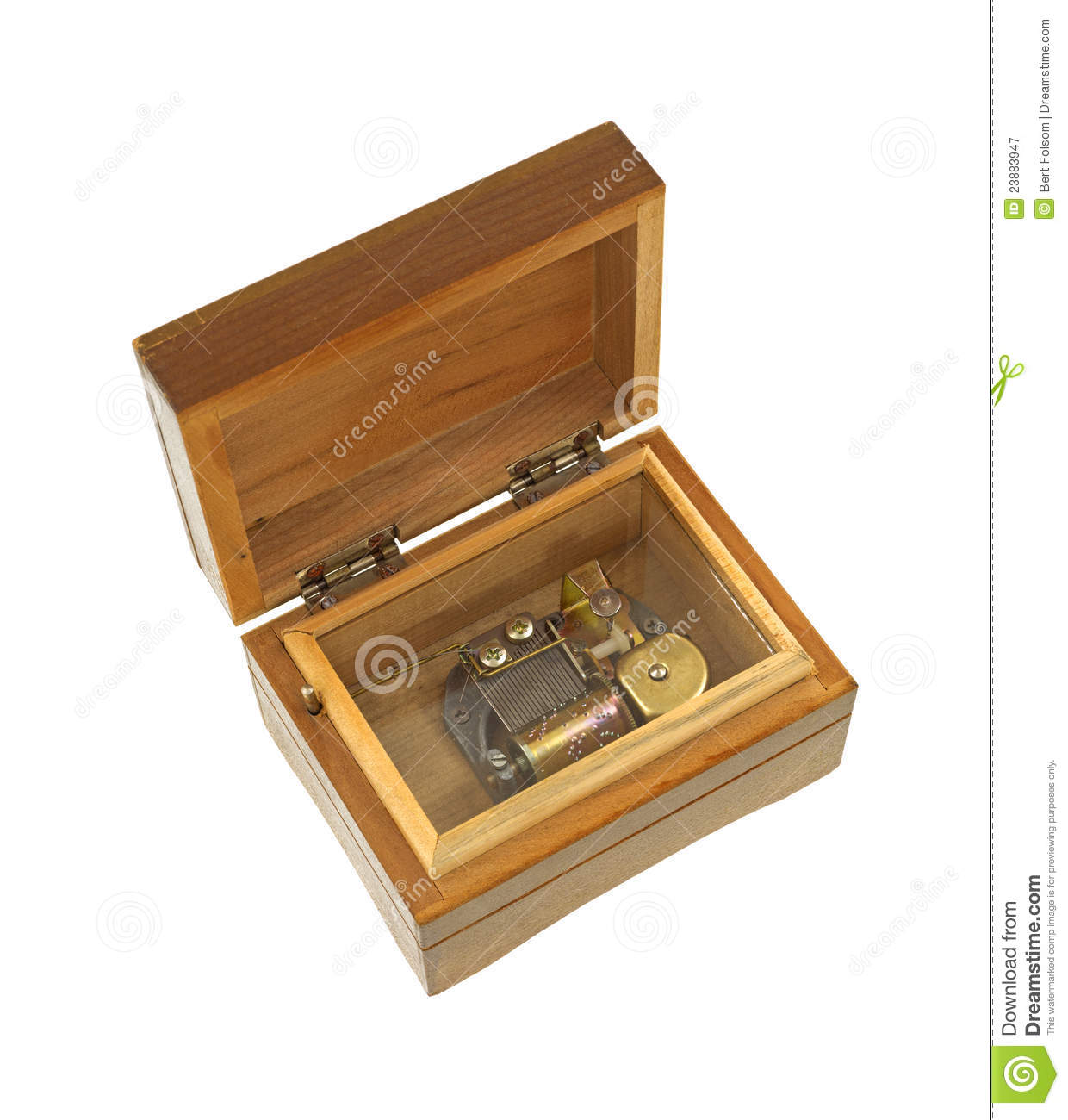Old Wood Music Box Royalty Free Stock Photography - Image ...