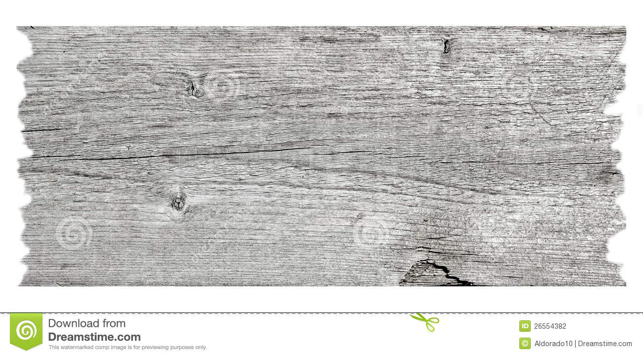 Old wood plank isolated on white background Old Wood Plank