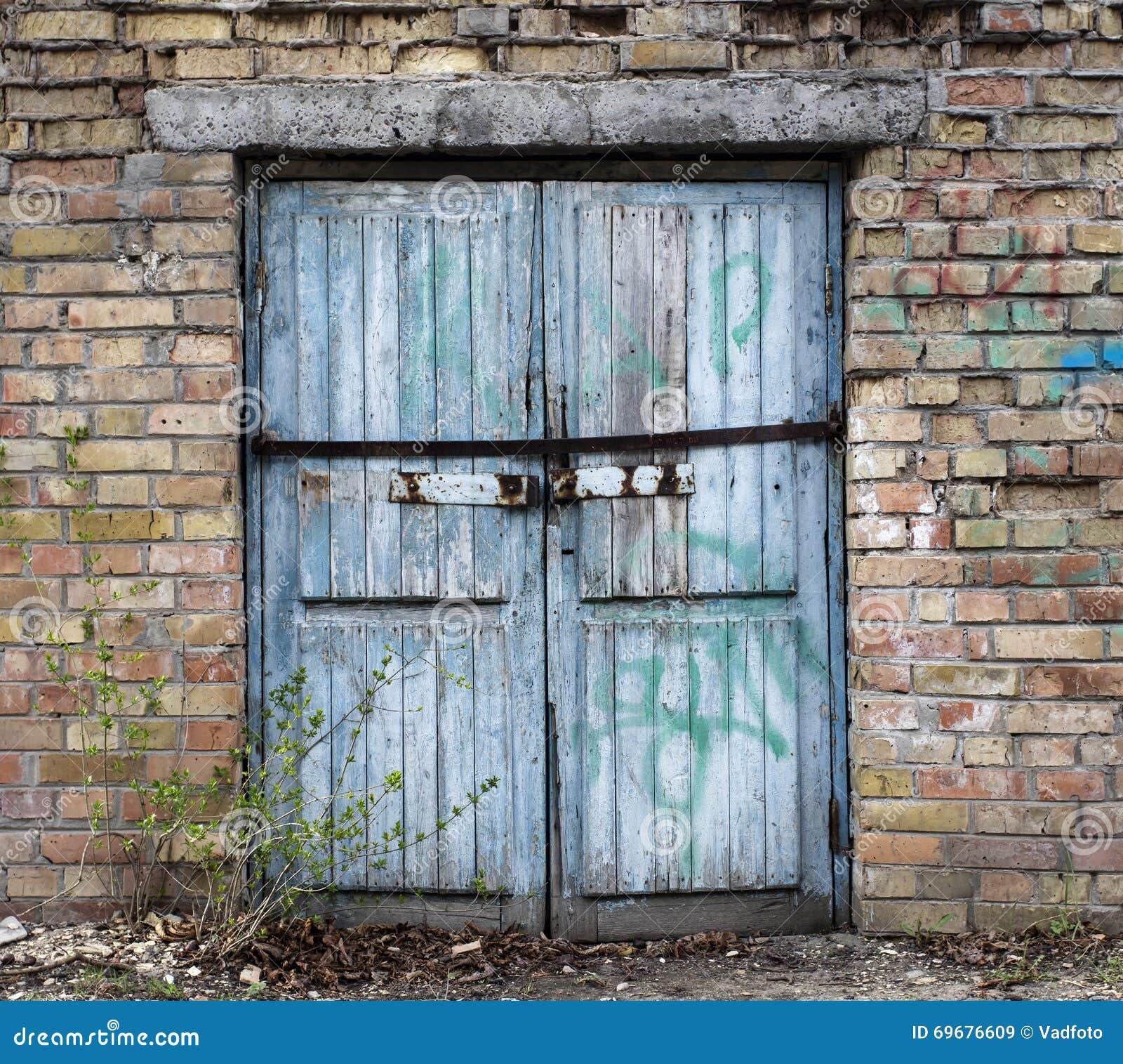 Lovely Old Wood Warehouse Door, Hangar