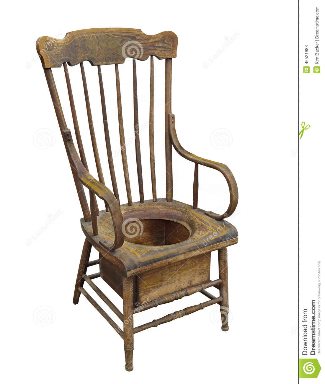 old wooden adult potty chair isolated stock photo image. Black Bedroom Furniture Sets. Home Design Ideas