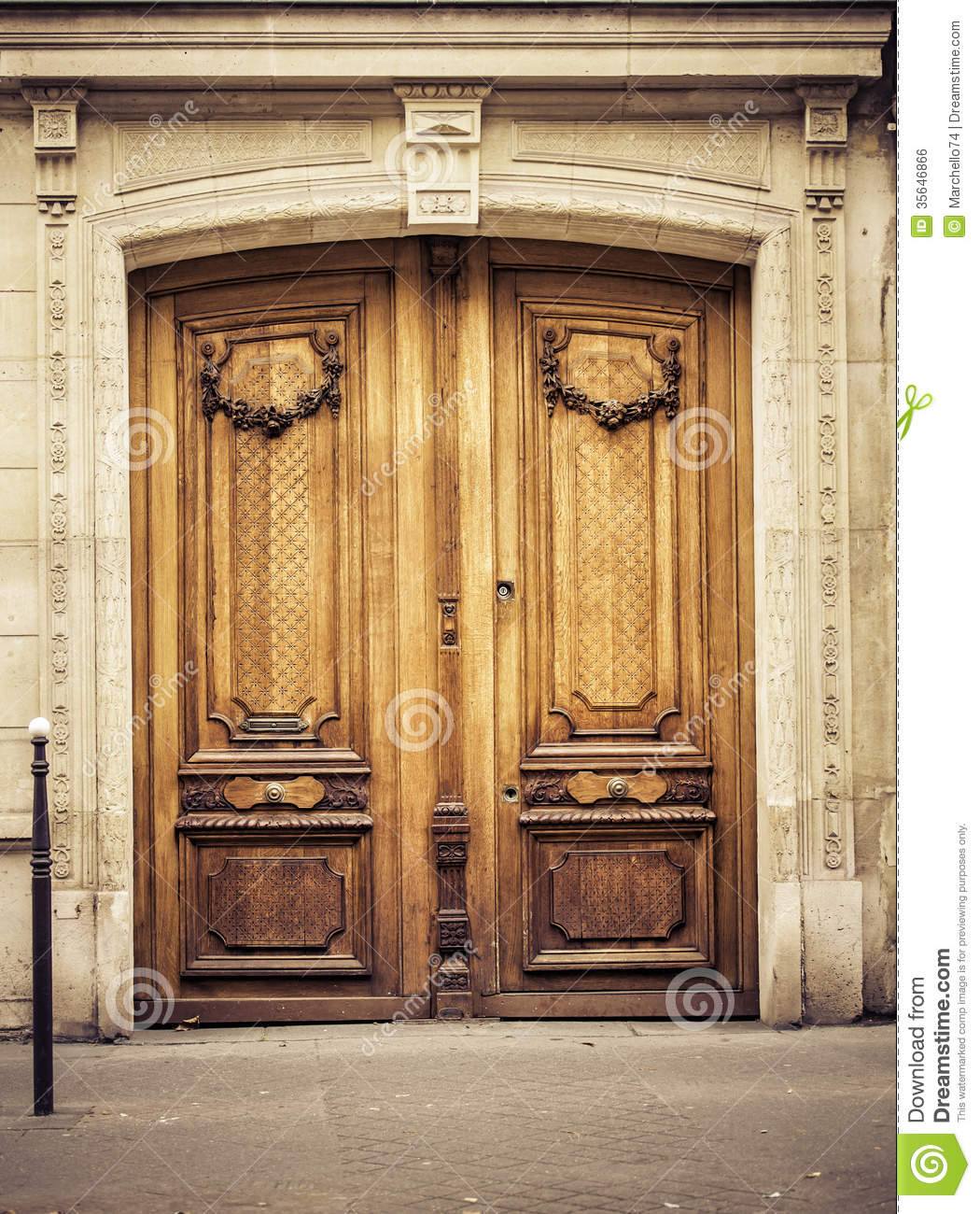 Old Wooden Arch Entry Door Royalty Free Stock Image