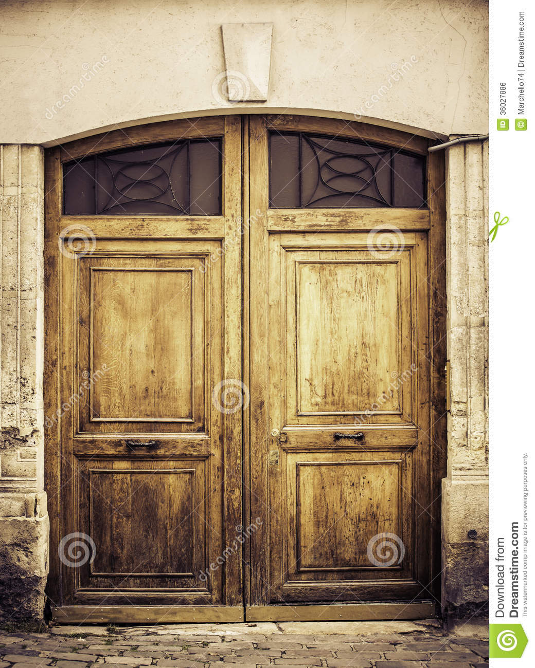 1300 #86A922 Old Wooden Arch Entry Door Royalty Free Stock Image Image: 36027886 image Arched Wood Entry Doors 40831040