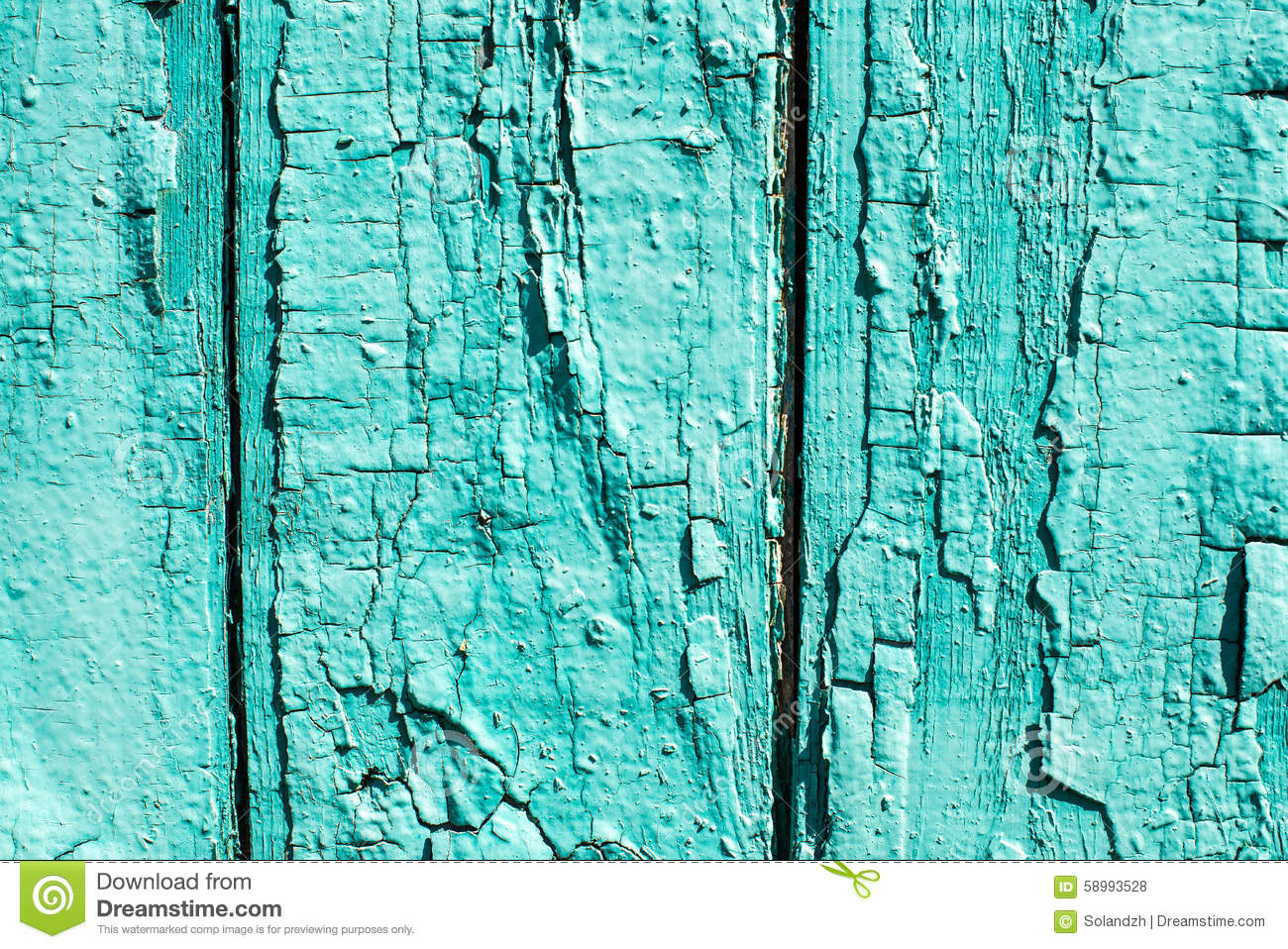 Download Old Wooden Background With Peeled Colour And Cracks Mint Color Stock Photo