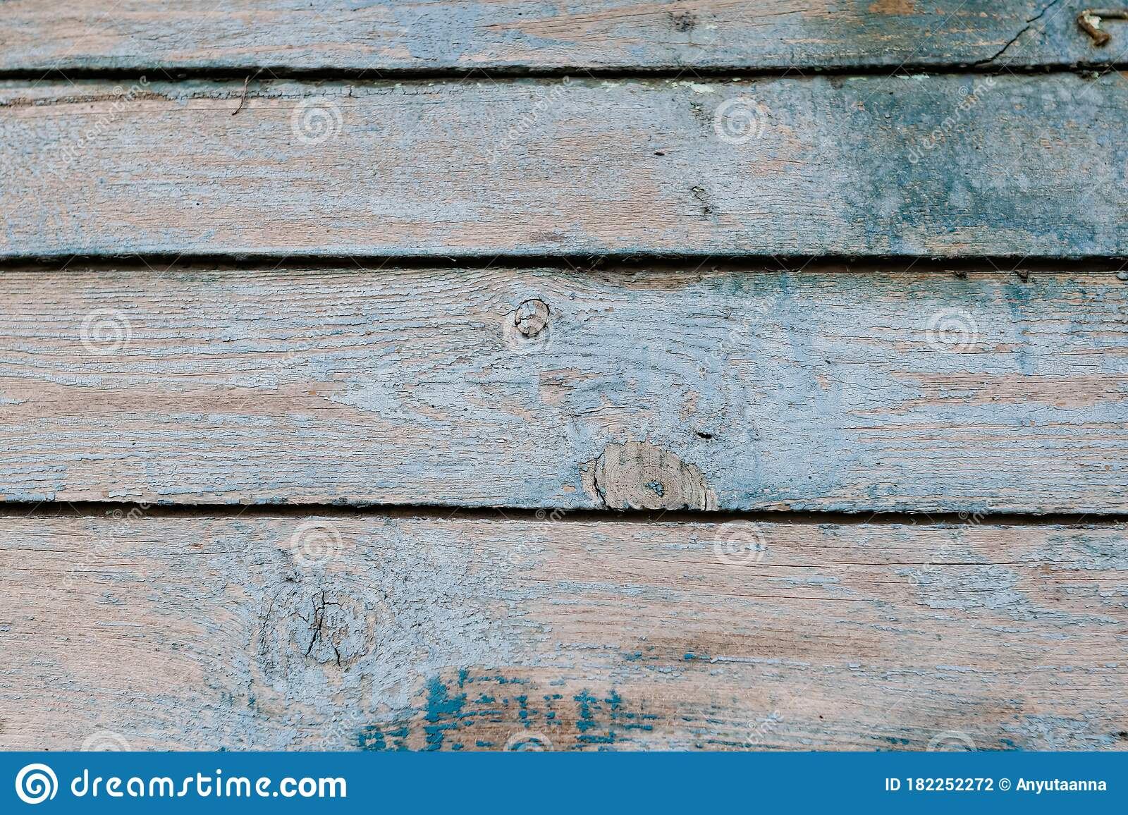 Old Wooden Background With Peeling Paint Vintage Boards With Blue And Green Coating Aquamarine Shades On Brown Stock Photo Image Of Coating Horizontal 182252272