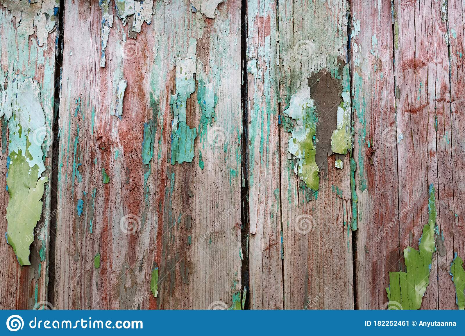 Old Wooden Background With Peeling Paint Vintage Boards With Blue And Green Coating Aquamarine Shades On Brown Stock Image Image Of Gray Brown 182252461