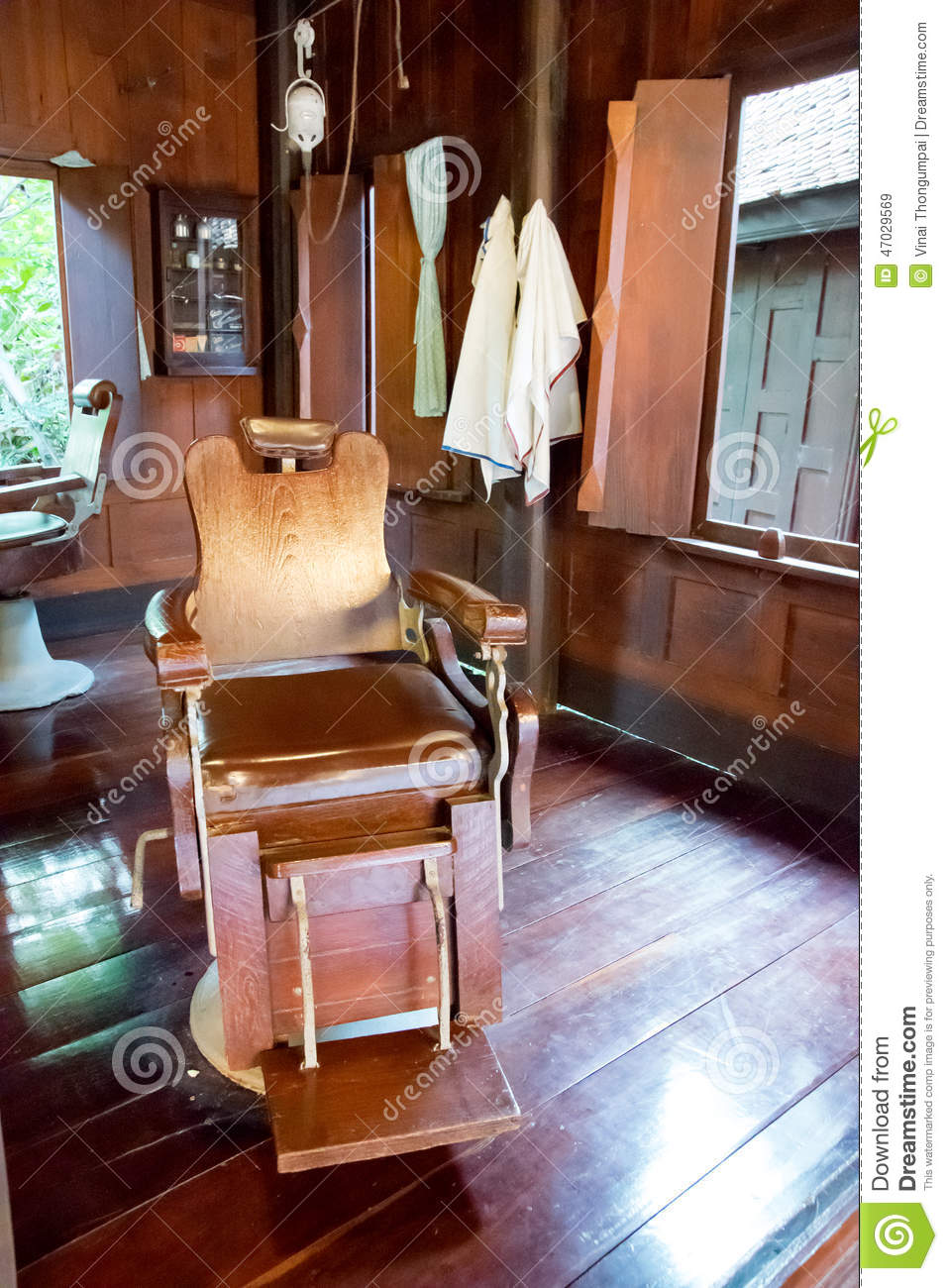 Old Wooden Barber's Ch...